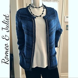 Romeo & Juliet Open Sweater Cardigan Sz L